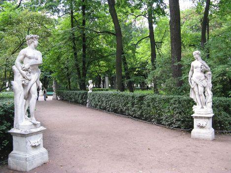 Vertumno y Pomona en el Jardín del Palacio de Verano de Pedro I en San Petersburgo, 1717